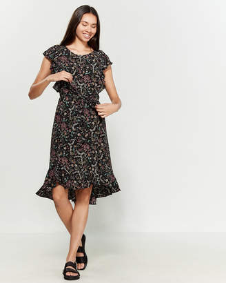 Max Studio Ruffled Floral Fit & Flare Dress