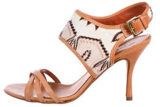 Missoni Leather Knit Sandals