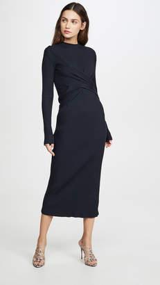 Victoria Victoria Beckham Draped Front Midi Dress