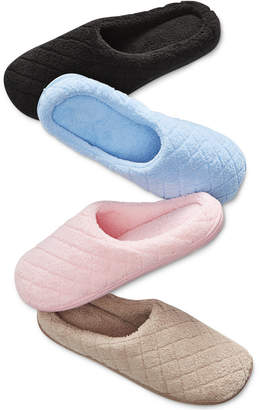 Charter Club Microterry Clog Slippers with Memory Foam, Created for Macy's