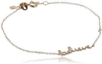 "Shy by SE""Believe"" Bracelet with Diamond Bezel"