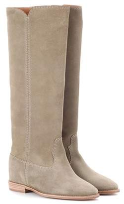 Isabel Marant Cleave concealed-wedge suede boots