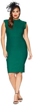 Unique Vintage Plus Size High Collar Laverne Wiggle Dress Women's Dress
