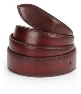 Corthay Lie De Vin Patina Leather Belt