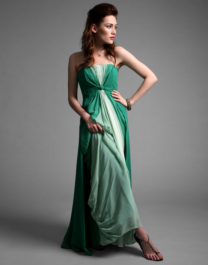 Coast Silk Chiffon Ombre Maxi Dress