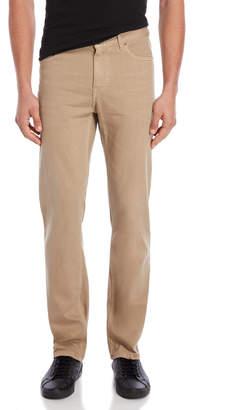 DKNY Camel Brown Five-Pocket St. Marks Slim Jeans
