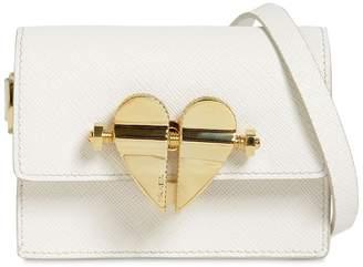 Prada Mini Saffiano Leather Heart Bag