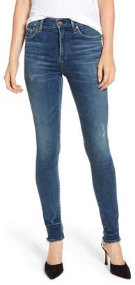 acdd713e930c8 Citizens of Humanity Rocket High Waist Raw Release Hem Skinny Jeans