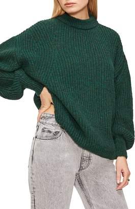 Anine Bing Jolie Pointelle Alpaca & Wool Blend Sweater