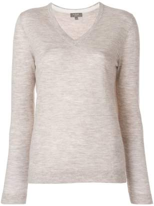 N.Peal cashmere block elbow jumper