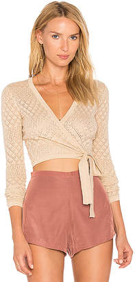 MAJORELLE Adriana Top in Beige $168 thestylecure.com