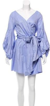 Alexis Geometric Long Sleeve Mini Wrap Dress w/ Tags