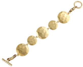 Kenneth Cole New York Gold Circle Toggle Bracelet
