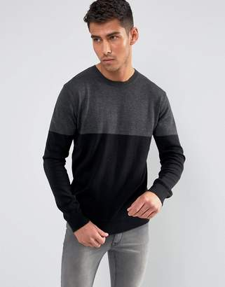 French Connection Color Block Knitted Sweater