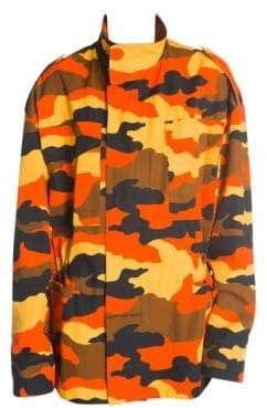 Off-White Women's Camouflage All Over Jacket - Orange Camo - Size 40 (4)