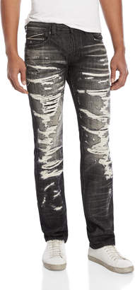 Cult of Individuality Greaser Straight Distressed Jeans