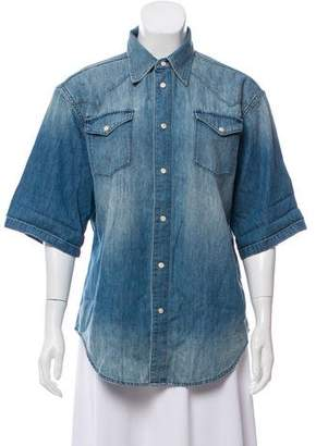 BLK DNM Short Sleeve Chambray Top