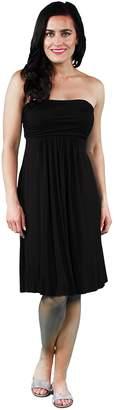 24/7 Comfort Apparel Women's Strapless Dress