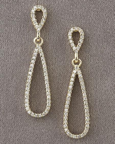 KC Designs Pave Teardrop Earrings