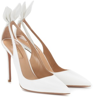 Aquazzura Deneuve 105 leather pumps