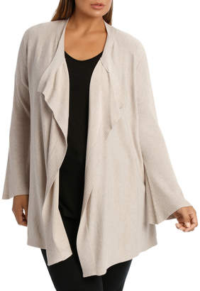 Bell Sleeve Drape Front Cardigan