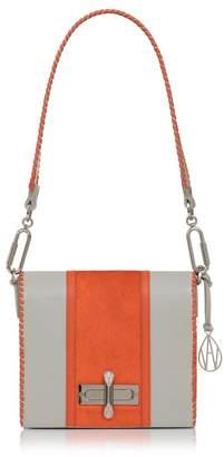 Amanda Wakeley Leather Stripe Costello Shoulder Bag