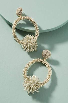 Anthropologie Lucille Beaded Hoop Drop Earrings