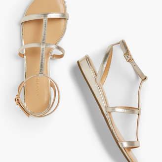 238b23a1aaf Talbots Daisy Gladiator Micro-Wedge Sandals - Metallic
