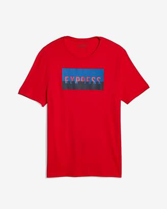 Express Red Exp Horizons Graphic Tee