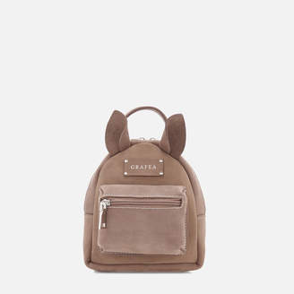 Grafea Women's Mini Zippy Deer Backpack - Brown