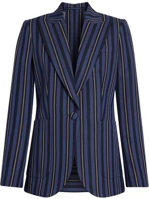 Burberry Collegiate Stripe Wool Blend Blazer