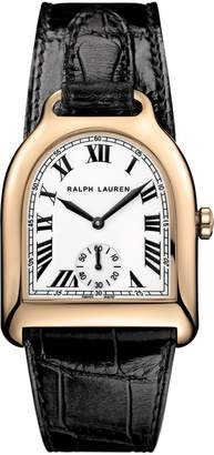 Ralph Lauren Medium Rose Gold Alligator
