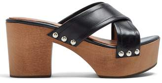 ALEXACHUNG Crossover leather clogs