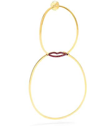 Delfina Delettrez Ruby & yellow-gold single earring
