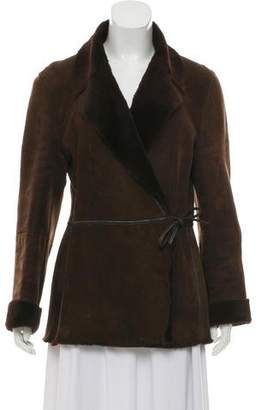Max Mara Weekend Leather Tie-Front Coat