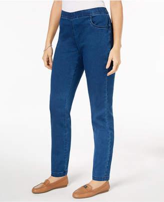 Karen Scott Petite Pull-On Jeans