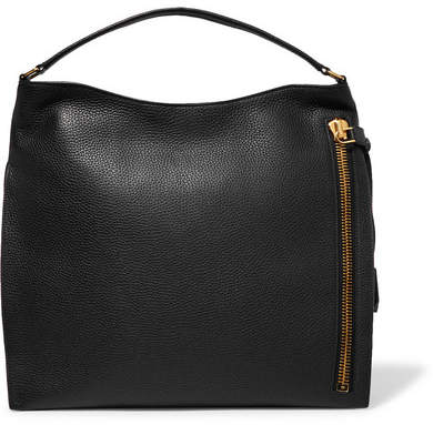 TOM FORD - Alix Large Textured-leather Tote - Black
