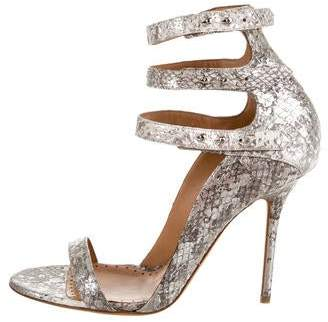Alexa Wagner Snakeskin Sandals w/ Tags