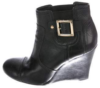 c4494cc9c Tory Burch Leather Wedge Ankle Boots