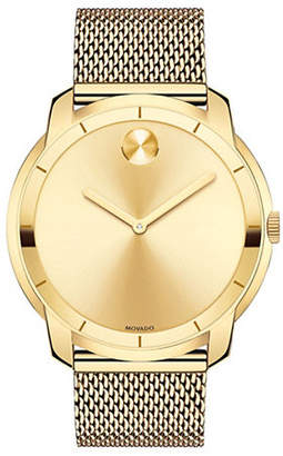 Movado Analog Bold Ionic Goldplated Steel Watch