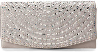 Jessica McClintock Sliver Connie Embellished Convertible Clutch