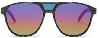 Christian Dior Sunglasses - Blacktie Aviator Acetate Sunglasses - Mens - Black