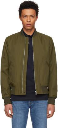 Paul Smith Khaki Cotton and Nylon Bomber Jacket