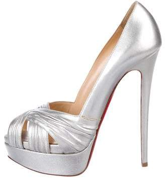 Christian Louboutin Suede Metallic Pumps