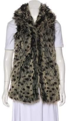 Alice + Olivia Long Faux Fur Vest