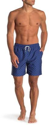 Brooks Brothers Star Print Drawstring Swim Trunks