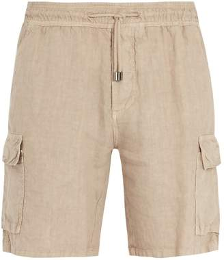 Altea Elasticated-waist linen cargo shorts