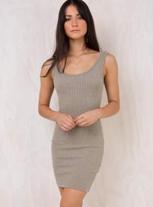 MinkPink Grace Textured Rib Tank Dress