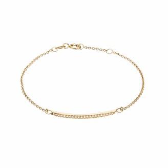 Lily & Roo Gold Diamond Style Bar Bracelet