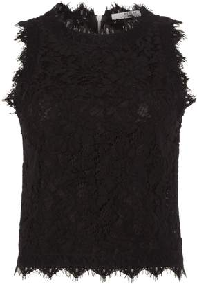 Replay Sleeveless Lace Top